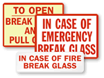 Break Glass in Case of Emergency Labels
